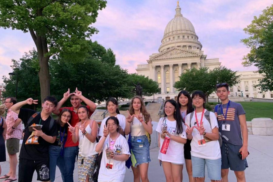 ACE and EdUSA 2019 students at State Capitol